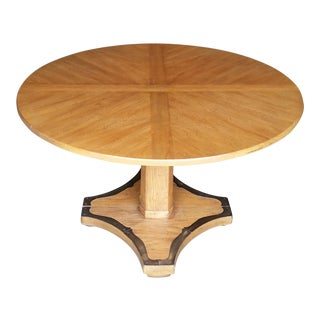 1970s Henredon Pedestal Game Table With Leaves