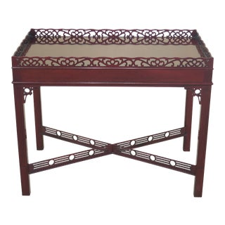 Kindel Winterthur Collection Chippendale Mahogany Tea Table For Sale