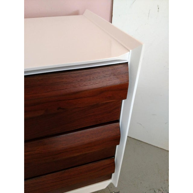 Brown Lane Furniture, Restored Chest of Drawers/Console, Mid-Century For Sale - Image 8 of 11