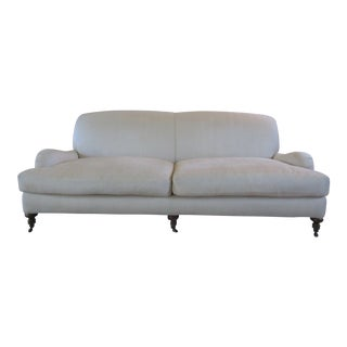 Late 20th Century Lee Industries Traditional Roll Arm Sofa For Sale