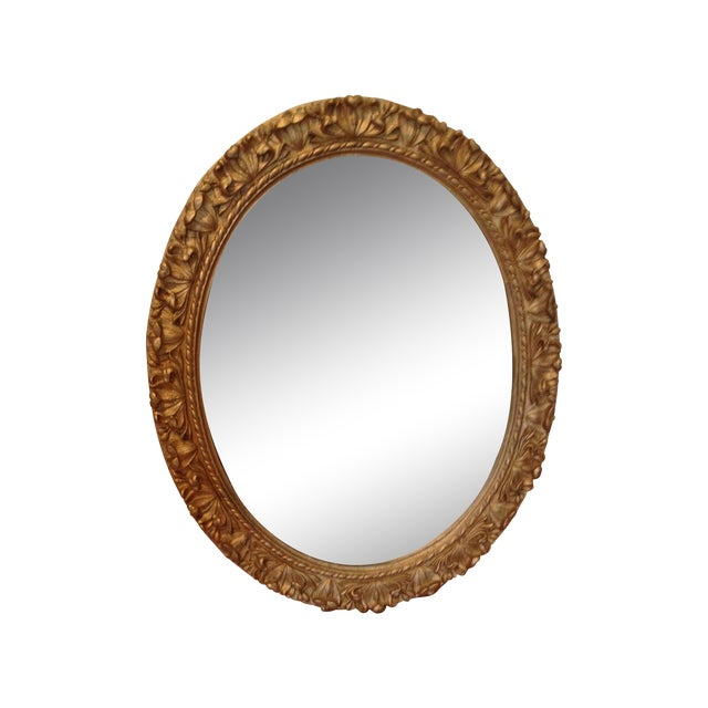Gilded Oval Mirror - Image 1 of 4