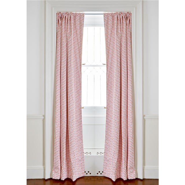 "Pepper Poppy Pink 50"" x 108"" Curtains - 2 Panels For Sale - Image 4 of 4"