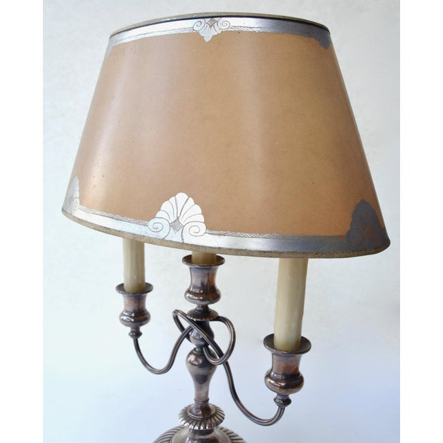 19th Century Silver Bouillotte Lamp From France, Signed E.Kennedy For Sale In Los Angeles - Image 6 of 11