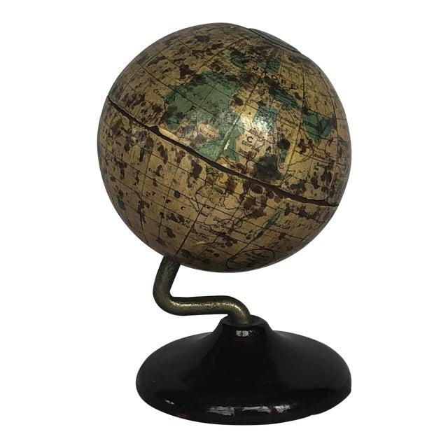 Vintage World Desk Globe Die Cast Metal Bank For Sale