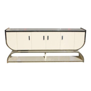 French Mid- Century Modern ''U'' Shape 4 Door Sideboard or Buffet.