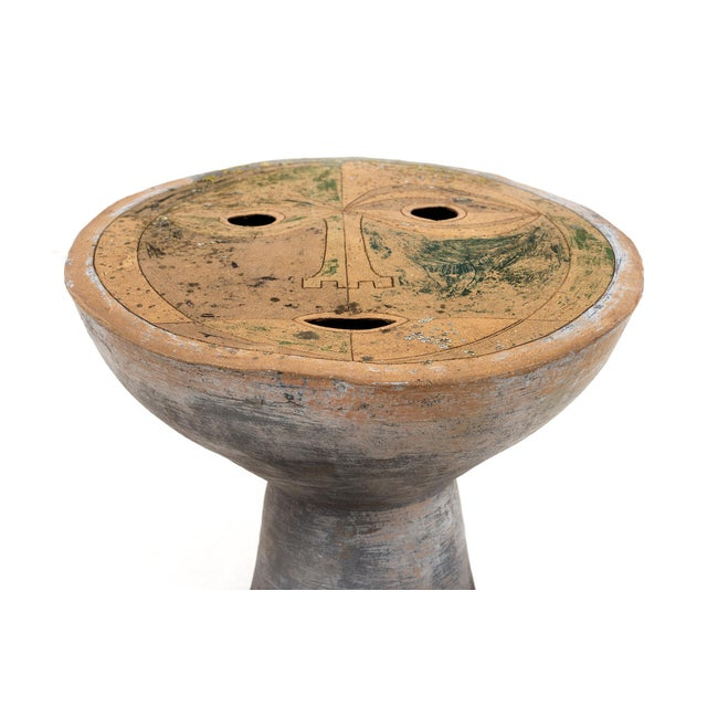 1960s Clyde Burt Figural Ceramic Stool For Sale - Image 5 of 6