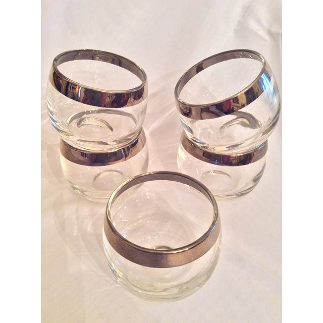Mid-Century Dorothy Thorpe Inspired Roly Poly Whiskey Glasses - Set of 5 For Sale - Image 10 of 13