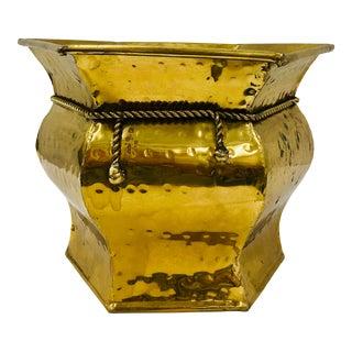Vintage Brass Planter For Sale