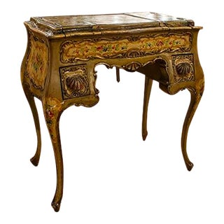 Italian Painted Dressing Table With Two Drawers For Sale