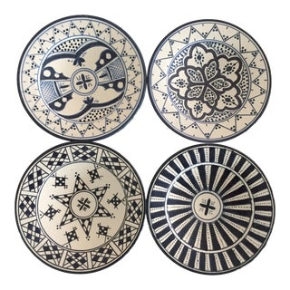 Safi Appetizer Plate, Set of 4 Navy For Sale