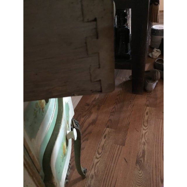 20th Century Shabby Chic Green Nightstand/Chest For Sale In West Palm - Image 6 of 7