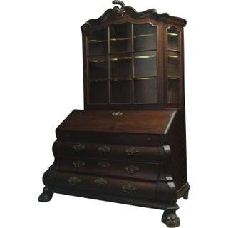 Antique 1800s Oak Dutch Secretaire For Sale