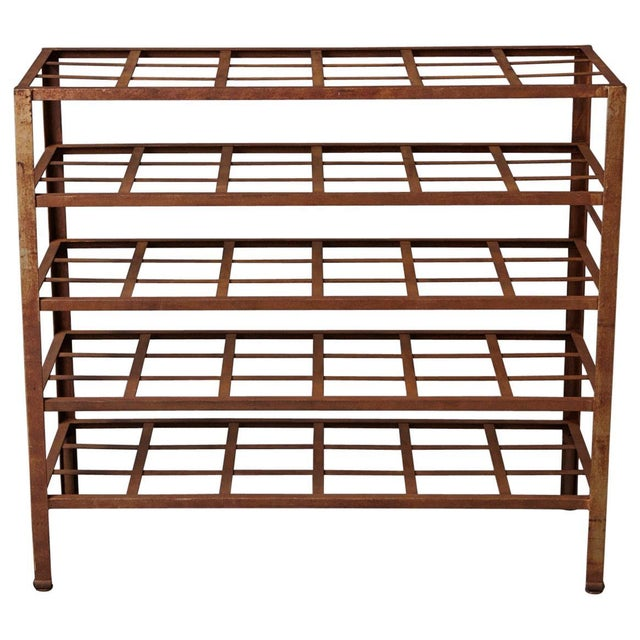 Industrial 5 Tier Shelf With Grid Shelves for Books or Usage as Seedling Planter For Sale - Image 11 of 11