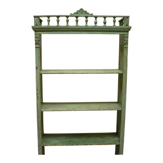 Painted Pine Utility Shelf or Bookshelf