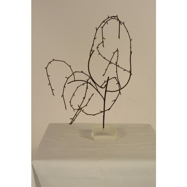 Abstract 1970s Free-Form Abstract Sculpture on Lucite Base For Sale - Image 3 of 10