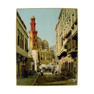 1890's Cairo Egypt Street Scene Photograph