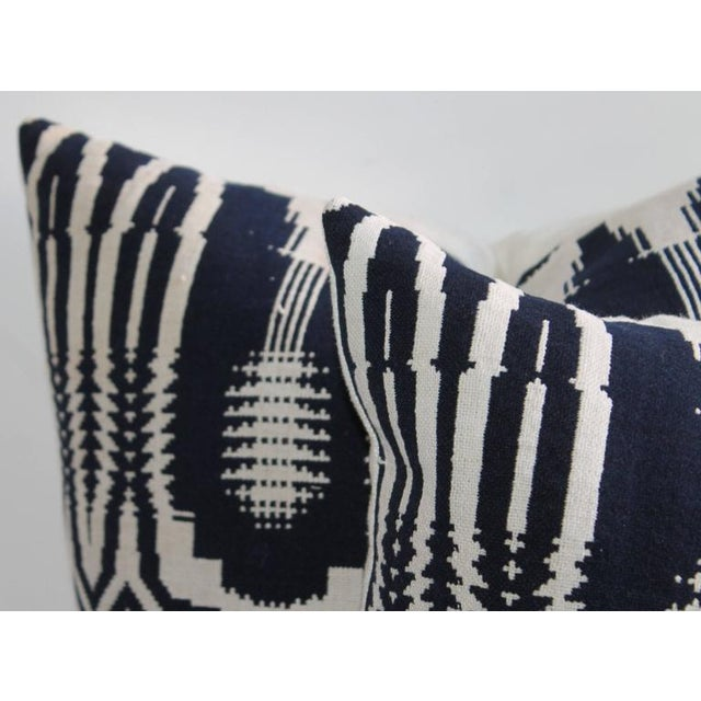 Textile 19th Century Handwoven Jacquard Coverlet Pillows For Sale - Image 7 of 10