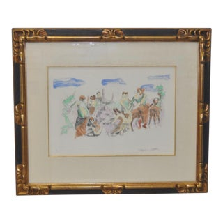 C. 1961 Jacques Villon Original Color Aquatint For Sale