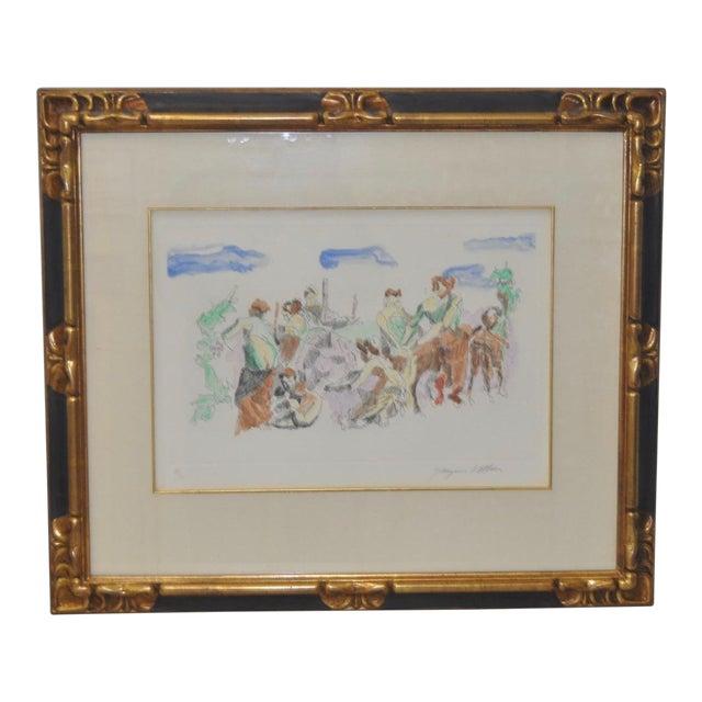 C. 1961 Jacques Villon Original Color Aquatint For Sale