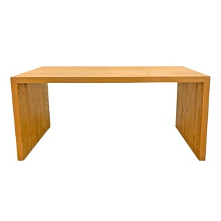 20th Century Bauhaus American Maple Butcher Block Parsons Table For Sale