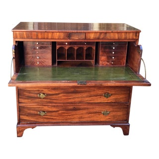 Antique English Georgian Butler's Secretary Desk