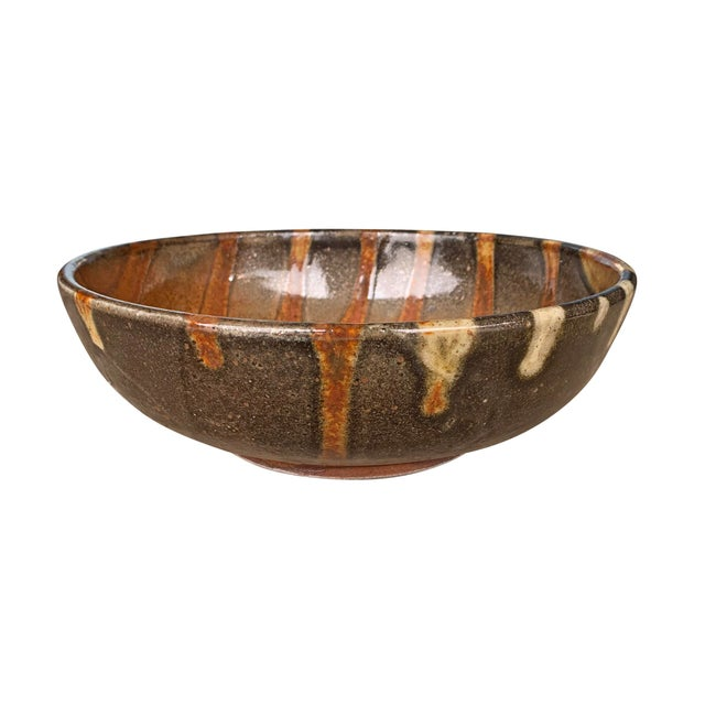Mid 20th Century Vintage Studio Pottery Bowl For Sale - Image 5 of 12