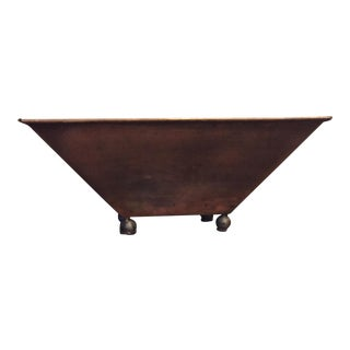 Handmade Copper Footed Bowl