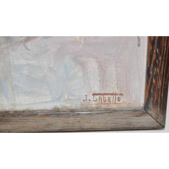 Vintage Impressionist Oil Painting by Gabetto - Image 6 of 8
