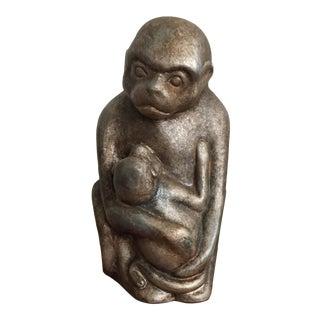 Monkey Statue Holding Baby