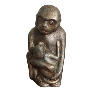 Sculpture - Monkey Holding Baby