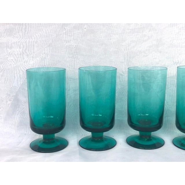 Mid-Century Modern 1950s Hand-Blown Swedish Juice Glasses- Set of 6 For Sale - Image 3 of 13