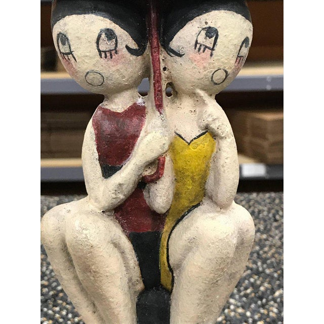 Hubley Manufacturing Company Hubley Bathing Beauties Doorstop by Anne Fish For Sale - Image 4 of 8