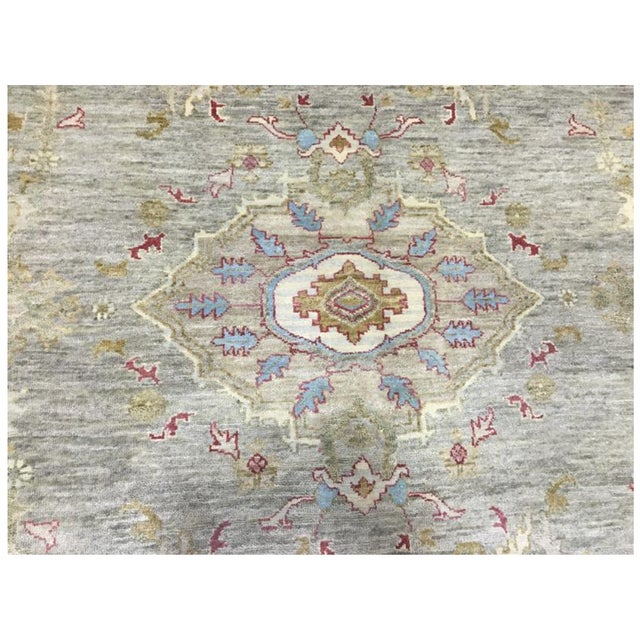 This rug is one of a kind and brand new! It is 100% hand made of 100% fine wool. I am only selling this beautiful rug...
