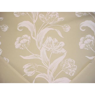 Traditional Andrew Martin Sugartwist Floral Canvas Cotton Print Upholstery Fabric - 13-7/8y For Sale