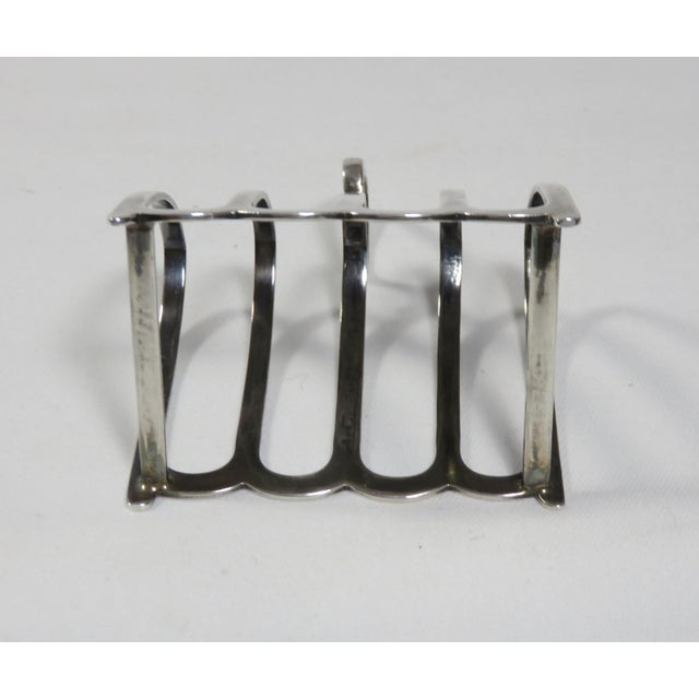 1924 Chester England Sterling Silver Toast Rack For Sale - Image 9 of 13