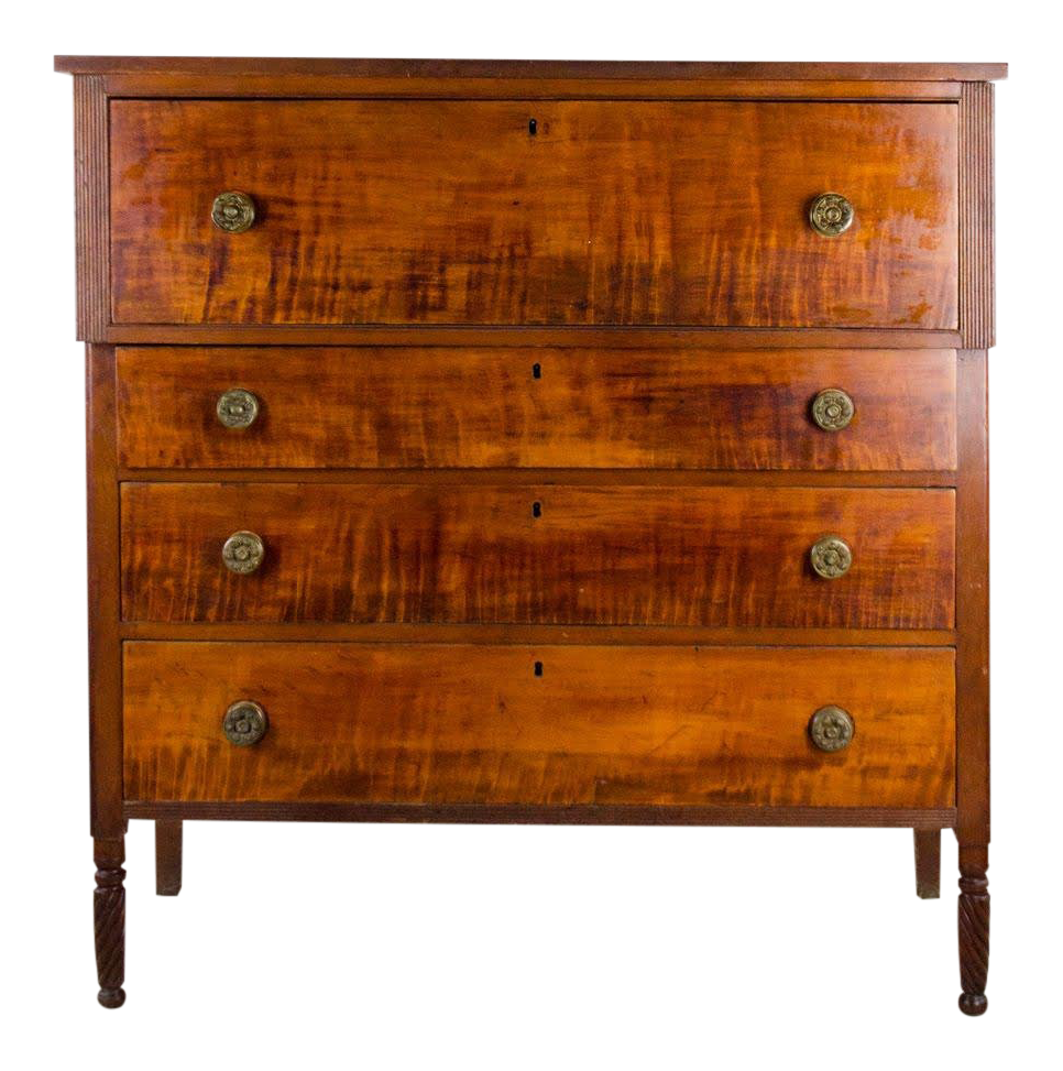 19th Century Antique French Empire Mahogany Dresser For Sale