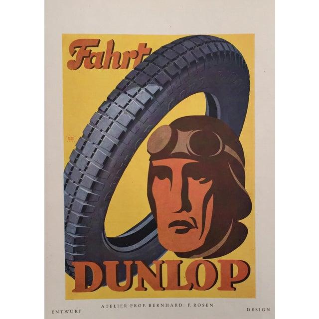 1920s Vintage German Dunlop Tire Poster - Image 1 of 2