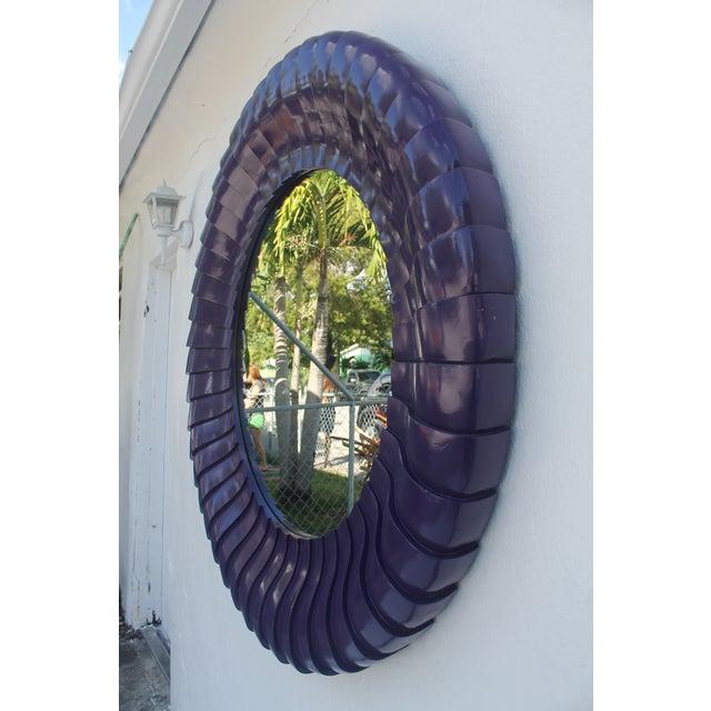 Sunburst Purple Wall Mirror - Image 3 of 11