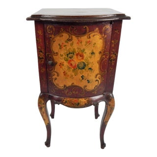 Vintage Hand-Painted Italian Side Table For Sale