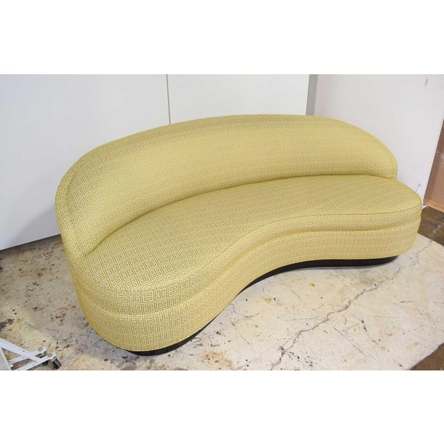 Custom Kidney Shaped Sofa With Kravet Fabric For Sale - Image 11 of 12