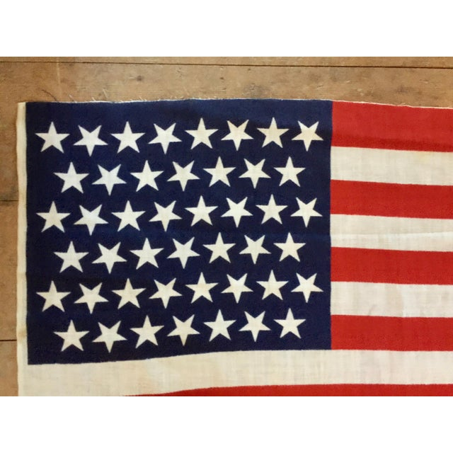 Americana 45 Star American Parade Flag For Sale - Image 3 of 7
