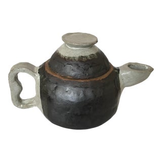 Large Primitive Handmade Tea Pot For Sale