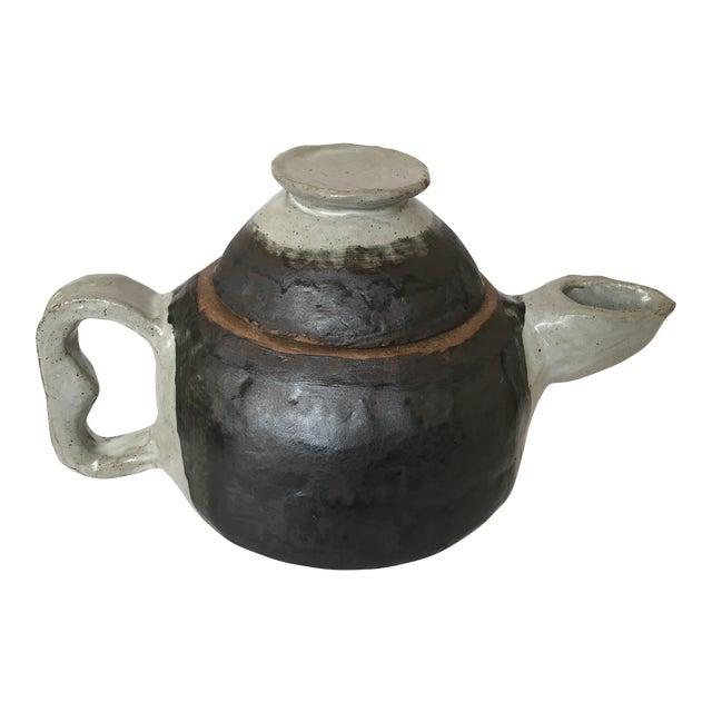 Large Primitive Handmade Tea Pot For Sale