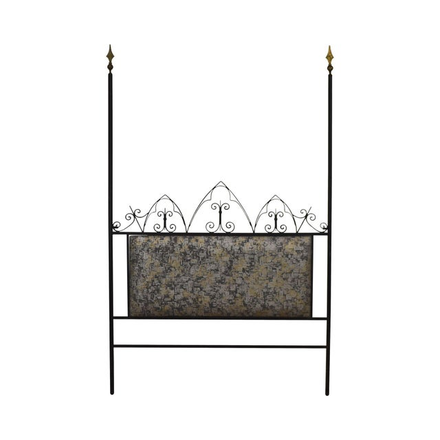 Hollywood Regency Mid Century Iron Full Size Poster Headboard For Sale - Image 13 of 13