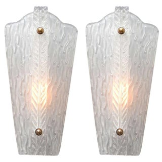 Vintage Murano Glass Sconces - A Pair For Sale