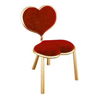 Cast Bronze Heart Chair by Artist Troy Smith - Contemporary Design - Limited Edition For Sale