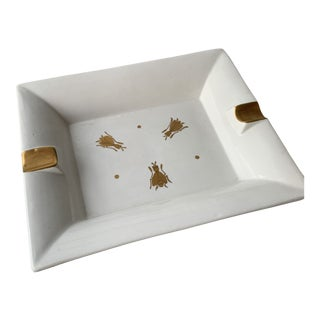 1970s Italian Ashtray/Trinket Dish With Gold Insects For Sale