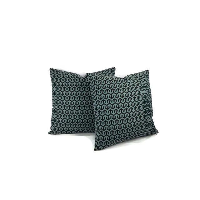 Contemporary Holly Hunt Anchors Aweigh Turqs and Caicos Accent Pillow Cover For Sale - Image 3 of 7