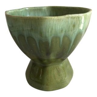 Midcentury Drip Glaze Ceramic Vase Vessel For Sale