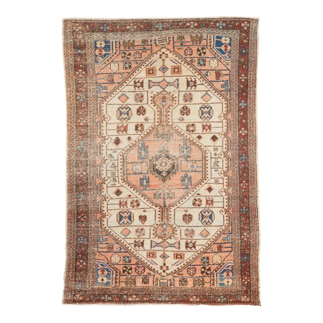 "Vintage Distressed Malayer Rug - 4'4"" x 6'3"" - Image 1 of 11"
